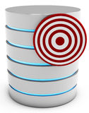 3d database server with target Royalty Free Stock Photo
