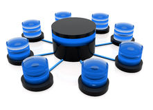 3d database structure Stock Image