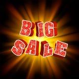 3d de bannermalplaatje van het verkoopbericht. EPS 8 Stock Foto