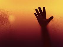 3d de handSilhouet van de persoonsverschrikking stock illustratie