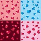 3D de hartenachtergronden van de valentijnskaart Stock Foto's