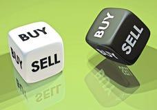 3d de investering koopt of verkoopt Royalty-vrije Stock Fotografie