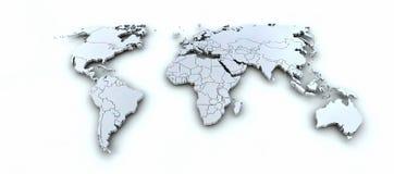 3d de kaart van de aarde Stock Afbeelding