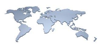 3D de Kaart van de wereld Royalty-vrije Stock Foto's