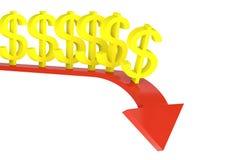 3d de mislukking van dollars Royalty-vrije Illustratie