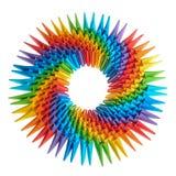 3d de regenboog van de origami Stock Afbeelding