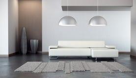 3d de zitkamer de ruimte van de luxe geeft terug Royalty-vrije Stock Afbeelding