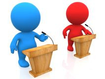 3D debate Stock Photos