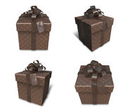 3d decorated brown gift Stock Image