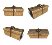 3d decorated brown gift Royalty Free Stock Image