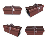 3d decorated brown gift Stock Photo