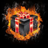 3D Decorated Gift Box Royalty Free Stock Image