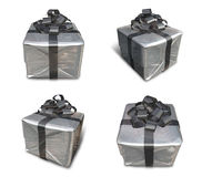 3d decorated gray gift Stock Photography