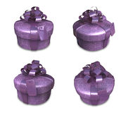 3d decorated purple gift Stock Photo