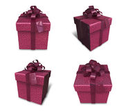 3d decorated red gift Stock Photo