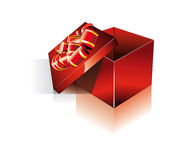 3D Decorated Red Gift Box Stock Images