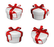 3d decorated white gift Royalty Free Stock Photo