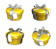 3d decorated yellow gift Royalty Free Stock Photos