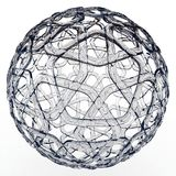 3d decorative glass sphere Stock Photos