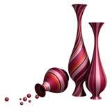 3D decorative jars Stock Image