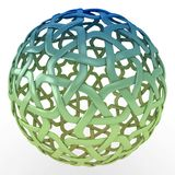 3d decorative sphere green blue gradient. Isolated on white Stock Images