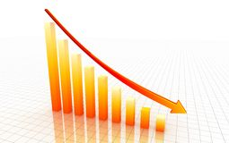 3d decrease graph Stock Photos