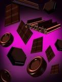 3D del cioccolato Fotografie Stock