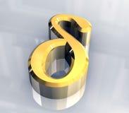 3d Delta金子符号 向量例证