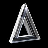 3D Delta symbol in glass Royalty Free Stock Images