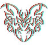 3d demon plemienny Fotografia Royalty Free