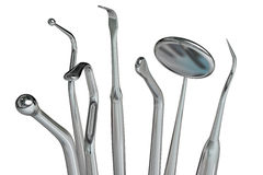 3d dentist tools isolated Royalty Free Stock Photography