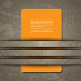 3d design of a card. In cut out background Stock Images