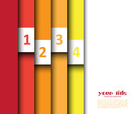 3d design with color banners. / website template Stock Photos