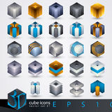3D design elements. Royalty Free Stock Photos