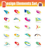3D Design Elements Set Royalty Free Stock Images