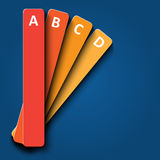 3d Design With Color Numbered Banners Royalty Free Stock Image