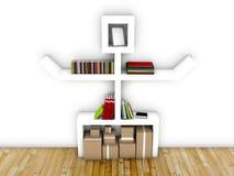 3d designer shelf in modern interior. Design concept Stock Photo