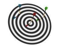 3d deskowe strzałki odpłacają się trzy Obraz Stock