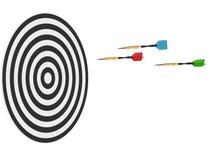 3d deskowe strzałki odpłacają się trzy Zdjęcie Stock