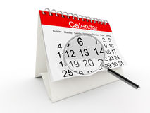 3D desktop calendar Stock Photo