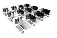 3d desktop ikony sieć Fotografia Royalty Free