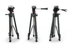 3d detailed camera tripod Royalty Free Stock Image