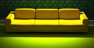 3d detalhado que rende o sofá moderno Imagens de Stock