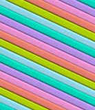 3D Diagonal stripes Stock Images