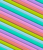 3D Diagonal stripes Stock Images