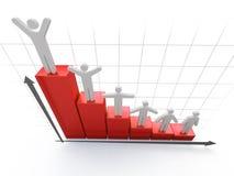 3d Diagram Royalty-vrije Stock Afbeelding