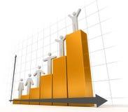 3d Diagram Stock Foto