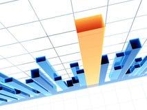 3d diagram, dat positieve resultaten toont Royalty-vrije Stock Afbeelding