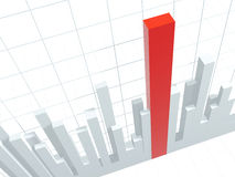 3d diagram, dat positieve resultaten toont Stock Foto