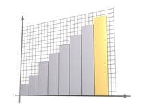 3d diagram, dat positieve resultaten toont vector illustratie